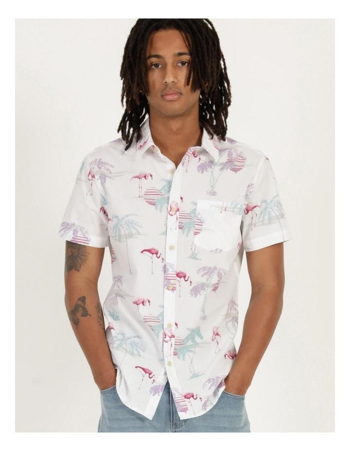 Flamingo Oasis All Over Print Short Sleeve Shirt image 3