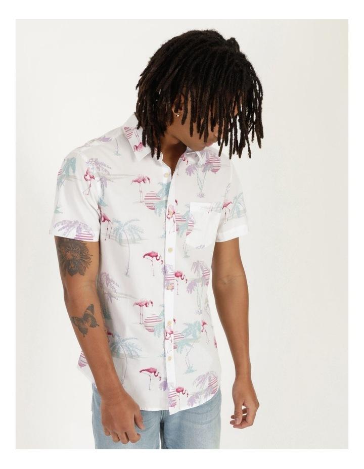 Flamingo Oasis All Over Print Short Sleeve Shirt image 4