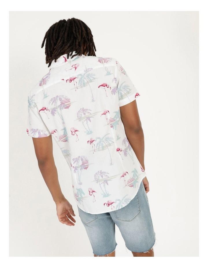 Flamingo Oasis All Over Print Short Sleeve Shirt image 5