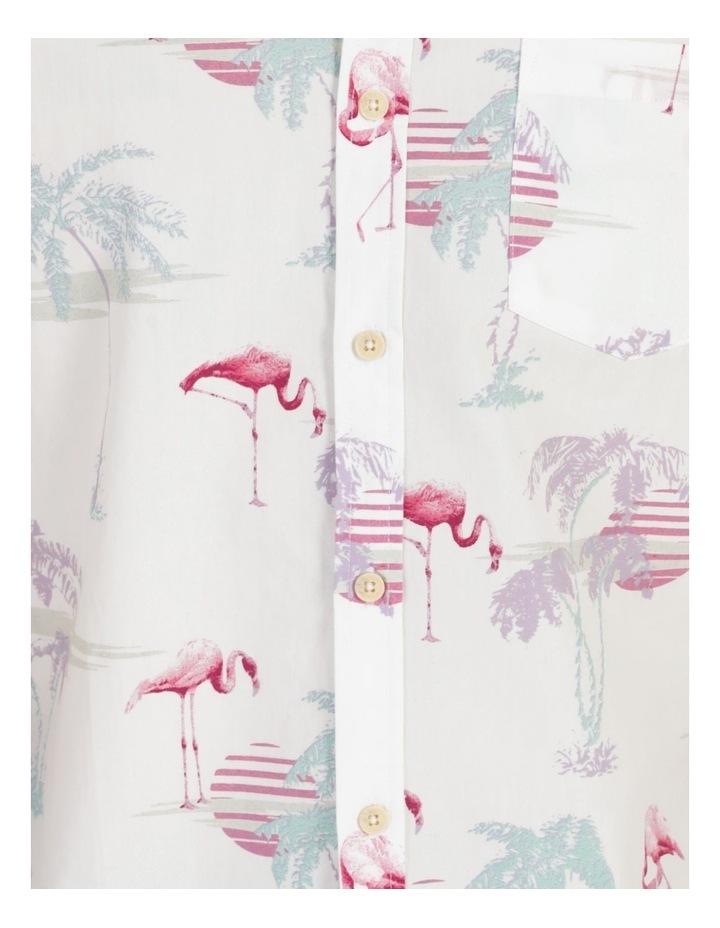 Flamingo Oasis All Over Print Short Sleeve Shirt image 7