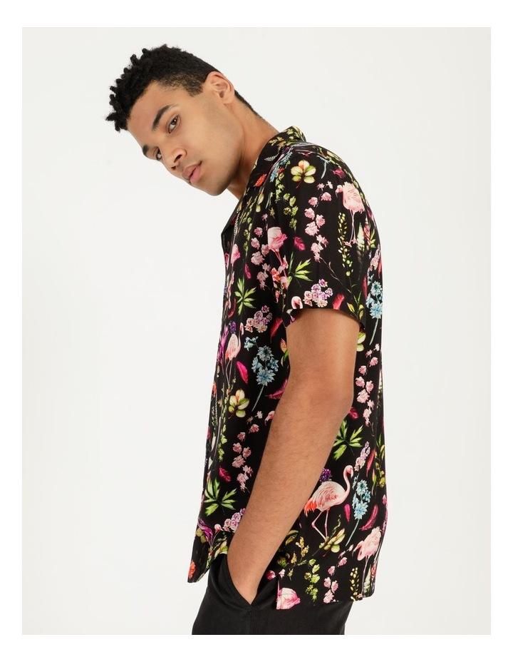 Flamingo Ferns All Over Print Short Sleeve Rayon Shirt image 1