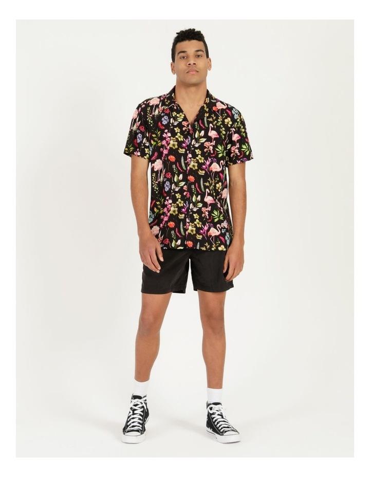 Flamingo Ferns All Over Print Short Sleeve Rayon Shirt image 2