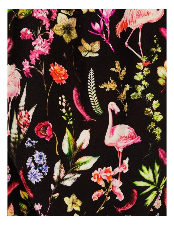 Flamingo Ferns All Over Print Short Sleeve Rayon Shirt image 6