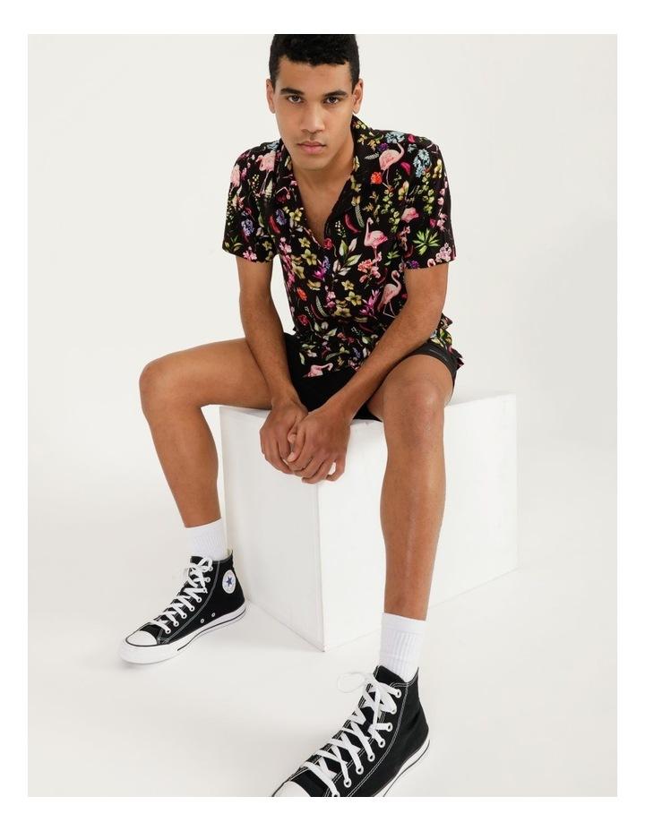 Flamingo Ferns All Over Print Short Sleeve Rayon Shirt image 7