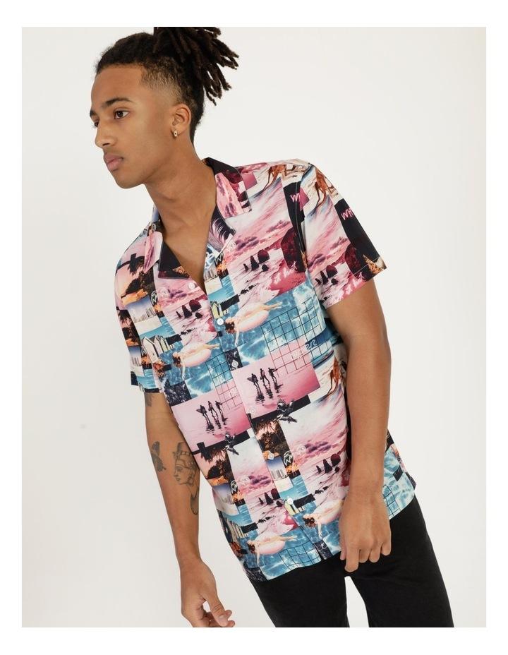 Mirage All Over Print Short Sleeve Rayon Shirt image 1