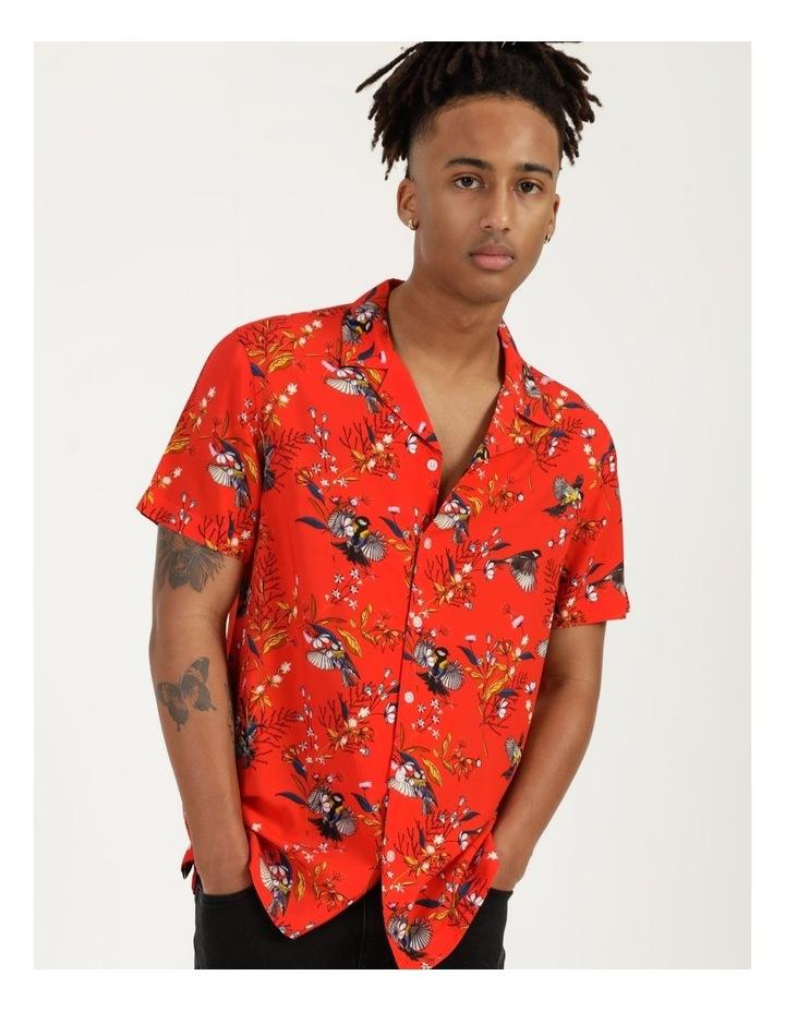 Wagtail All Over Print Short Sleeve Rayon Shirt image 1