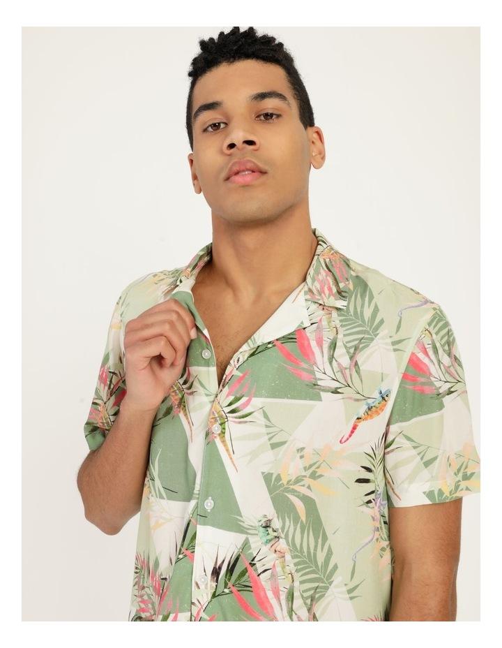 Chameleon All Over Print Short Sleeve Rayon Shirt image 4
