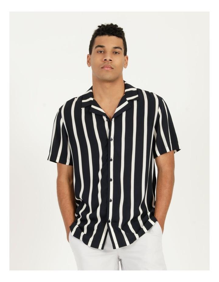 Straya Stripe Short Sleeve Rayon Shirt image 1