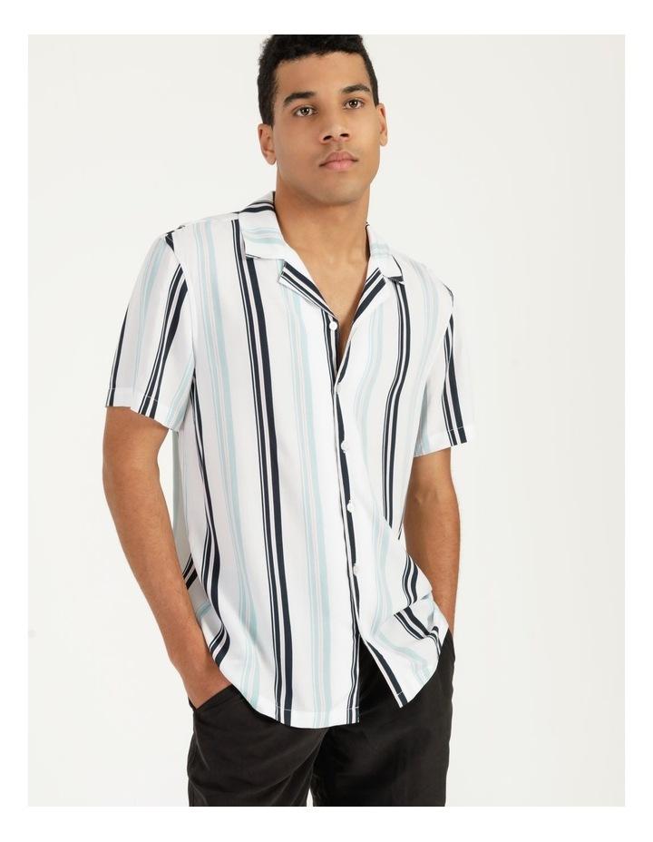 Sassafras Stripe Short Sleeve Rayon Shirt image 3