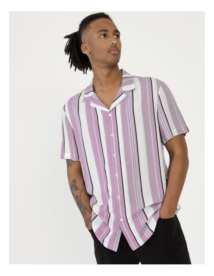 Sizzle Stripe Short Sleeve Rayon Shirt image 1