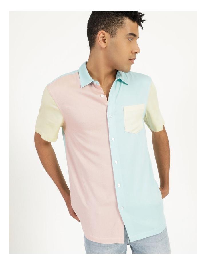 Crikey Colour Block Short Sleeve Rayon Shirt image 1