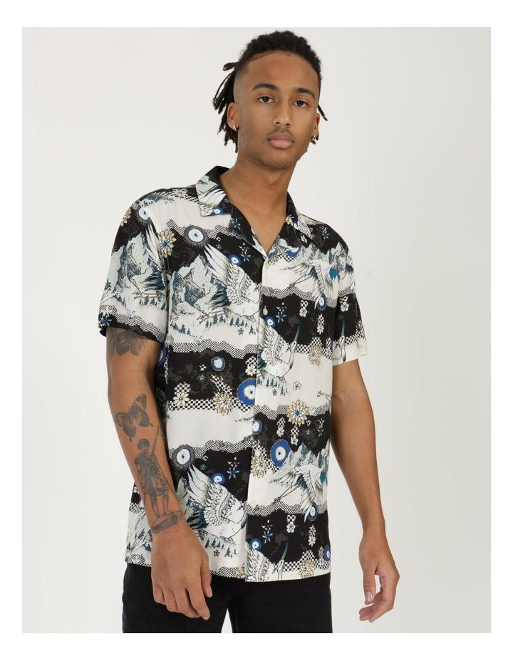 Crazy Crane All Over Print Short Sleeve Rayon Shirt image 1
