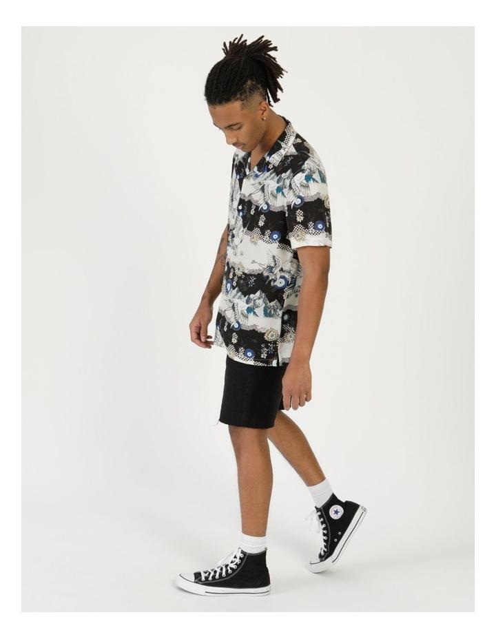 Crazy Crane All Over Print Short Sleeve Rayon Shirt image 4