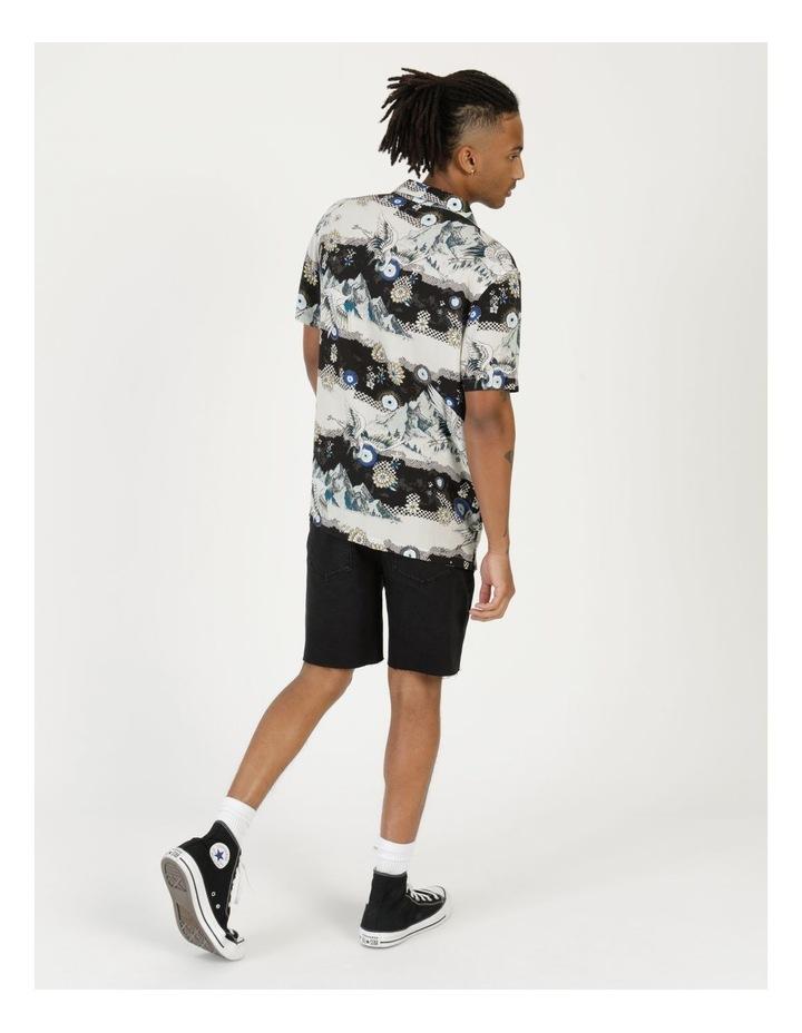 Crazy Crane All Over Print Short Sleeve Rayon Shirt image 5