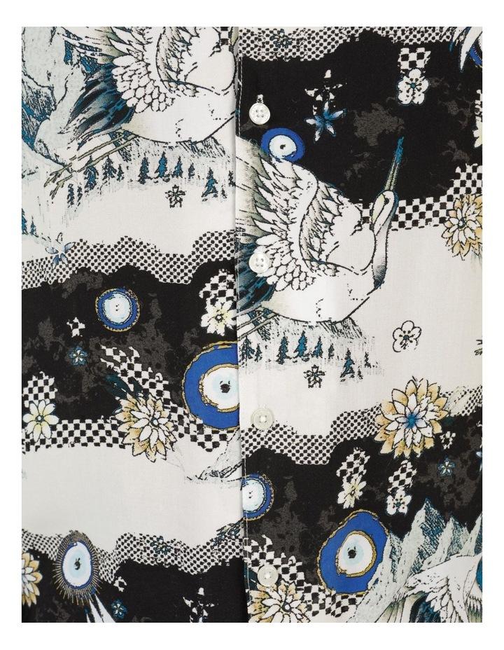 Crazy Crane All Over Print Short Sleeve Rayon Shirt image 7