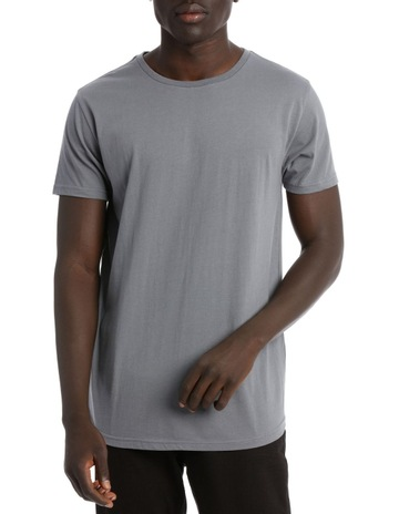 16000492f9 Kenji BasicsHADSPEN DROP SHOULDER CURVED TEE