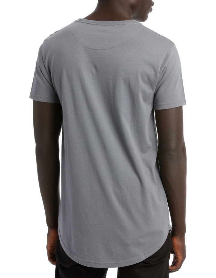 HADSPEN DROP SHOULDER CURVED TEE image 3