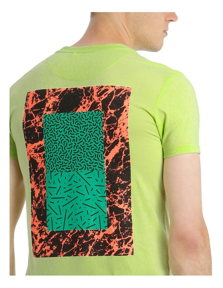 Tomorrowland Neon Placement Print Tee image 4