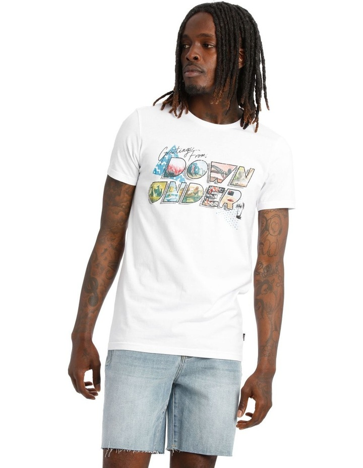 Down Under Placement Print Tee image 1