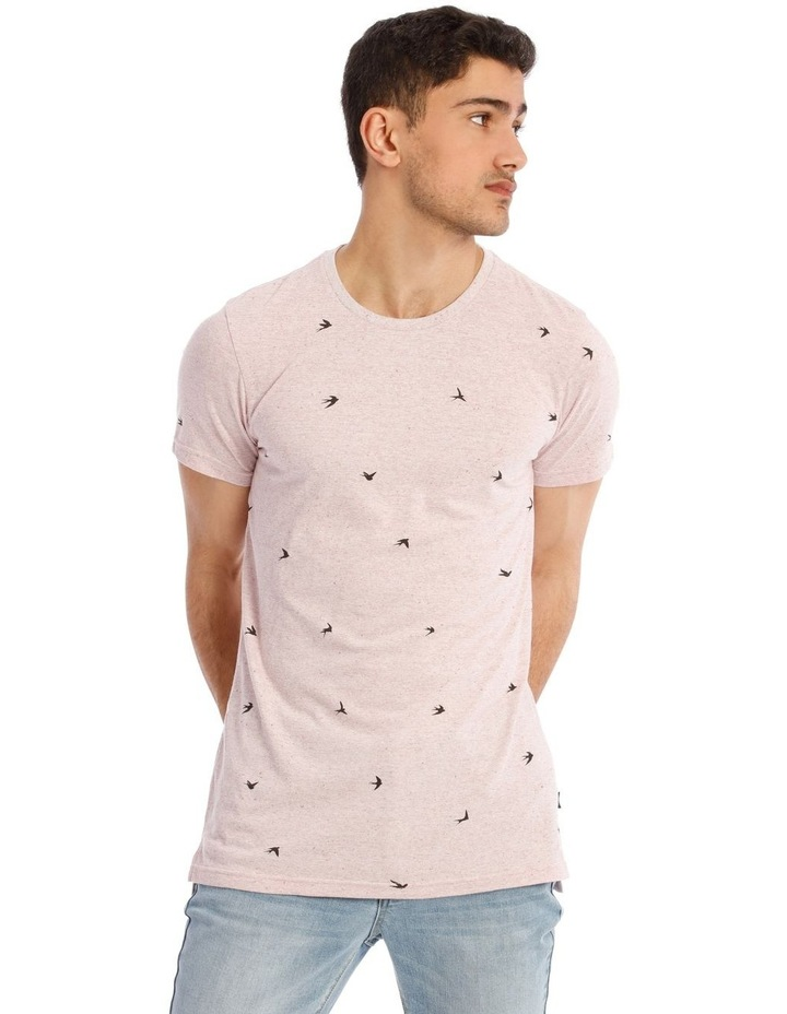 White Swallow Convo Print Short Sleeve Tee image 1