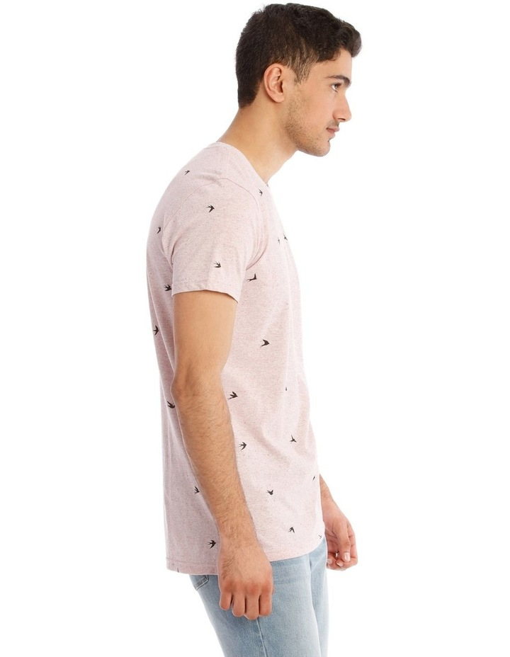 White Swallow Convo Print Short Sleeve Tee image 2