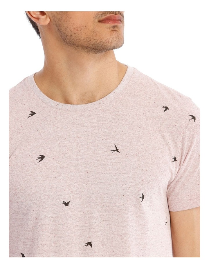 White Swallow Convo Print Short Sleeve Tee image 4