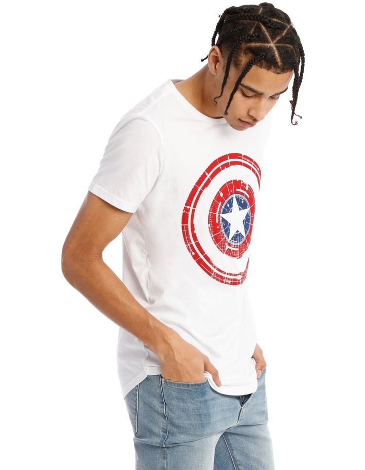 Captain America Shield Placement Print Short Sleeve Tee image 2