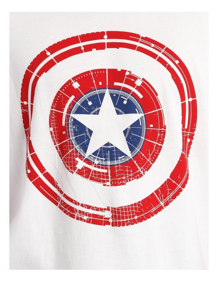 Captain America Shield Placement Print Short Sleeve Tee image 4