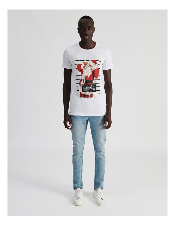 Naughty St Nick Placement Print Short Sleeve Tee image 2