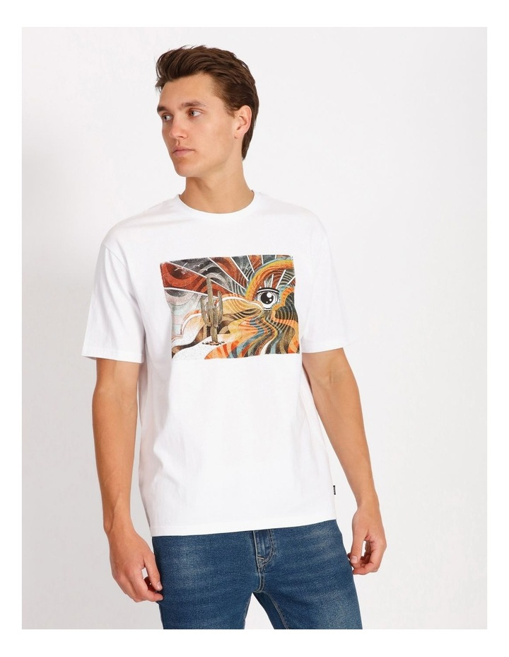 Psychedelic Placement Print Skater Tee image 1