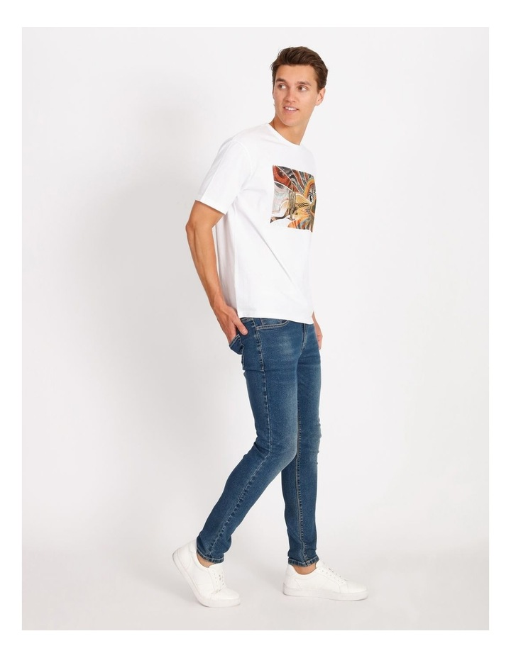 Psychedelic Placement Print Skater Tee image 2