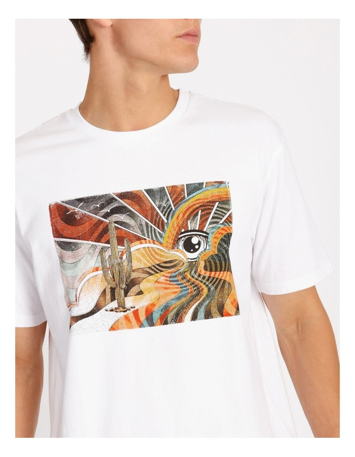 Psychedelic Placement Print Skater Tee image 4