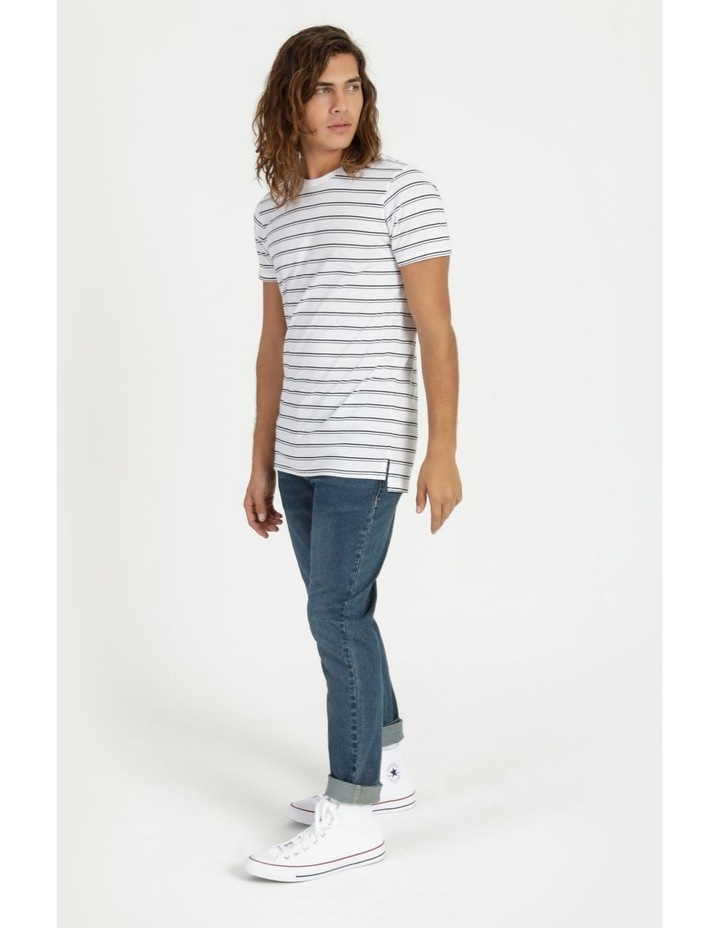Basics Sully Stripe Tee White image 2
