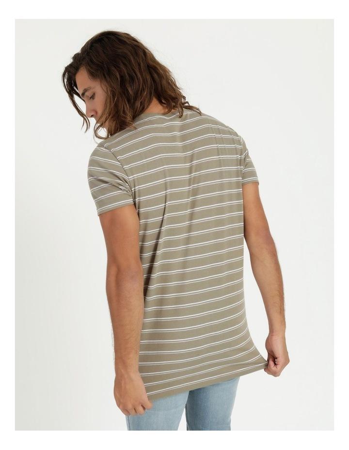 Basics Sully Stripe Tee Khaki image 3