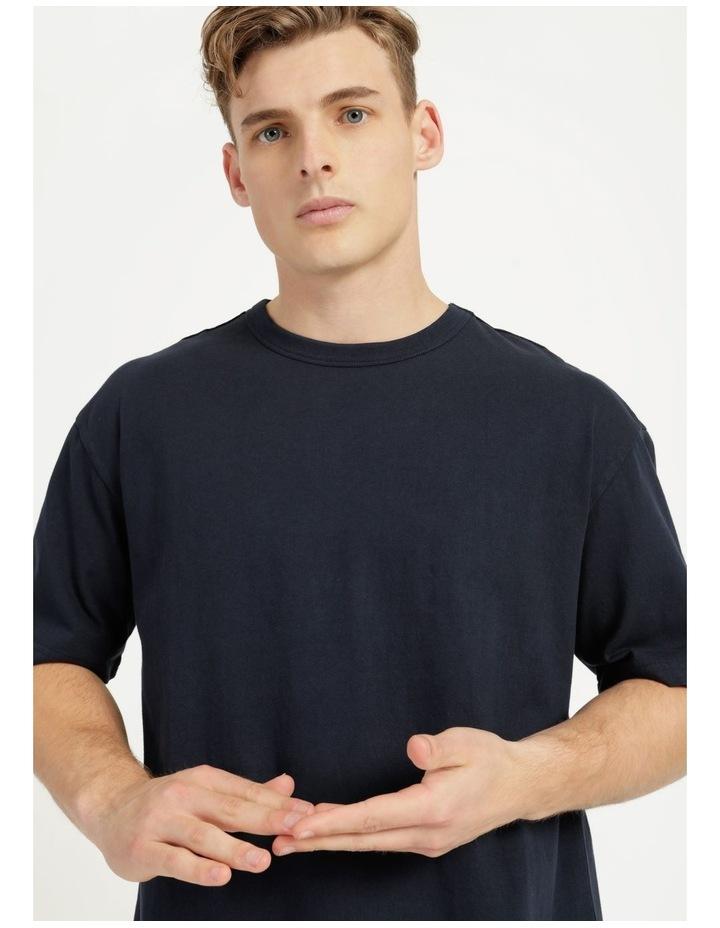 Hooley Heavy Pigment Short Sleeve Skater Tee Navy image 2