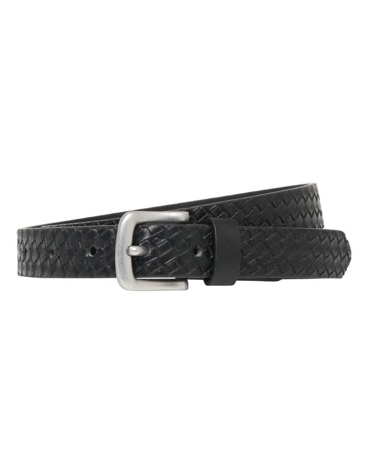 Skinny Textured Suit Belt image 1