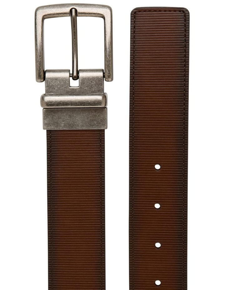 Brown Textured Reversible Belt image 2