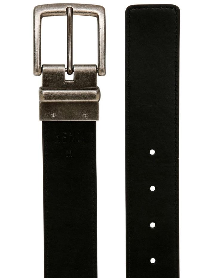 Brown Textured Reversible Belt image 3