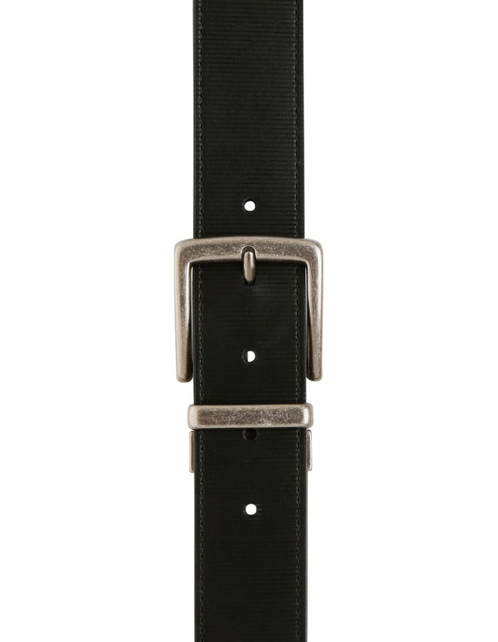 Black Textured Reversible Belt image 1