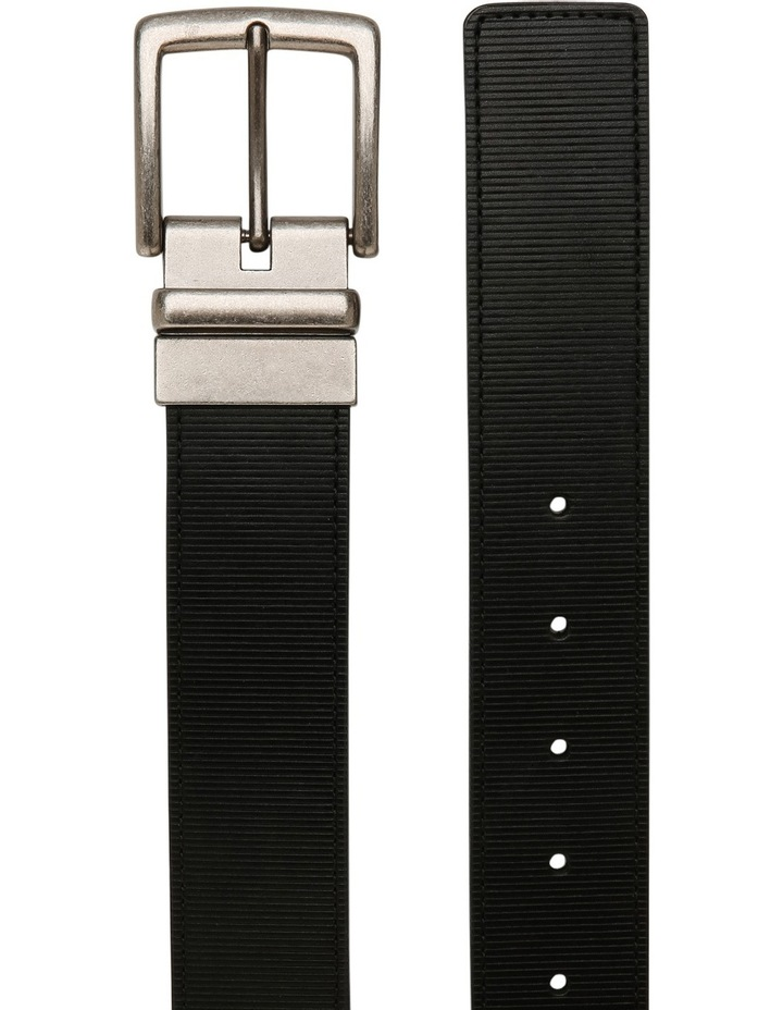 Black Textured Reversible Belt image 2