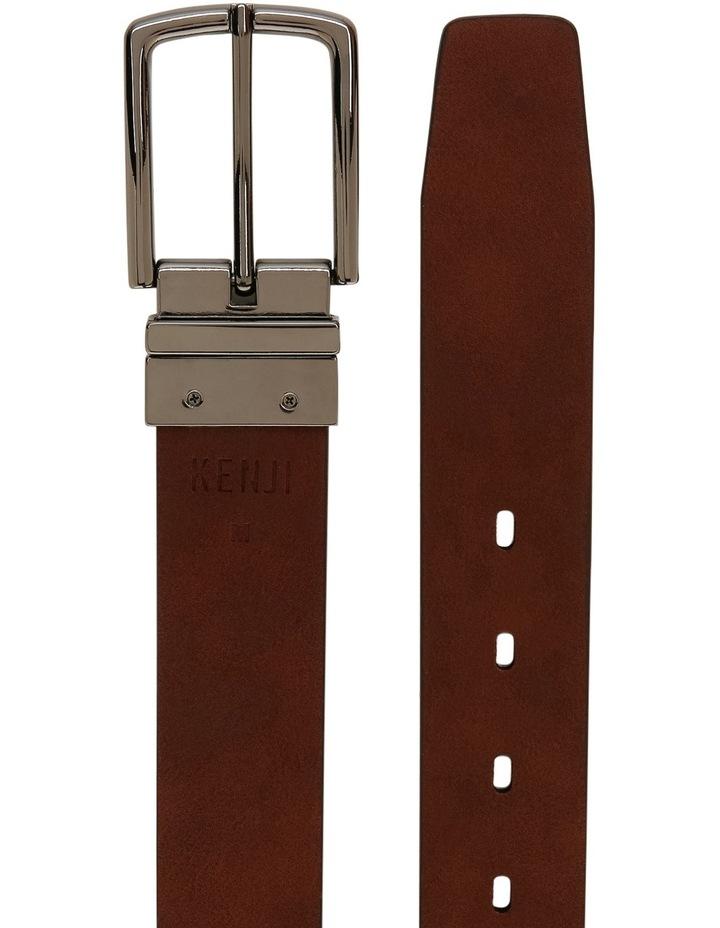 Tan Skinny Reversible Belt image 3