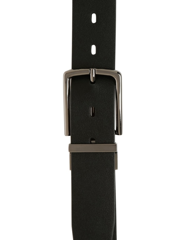 Black Skinny Reversible Belt image 1