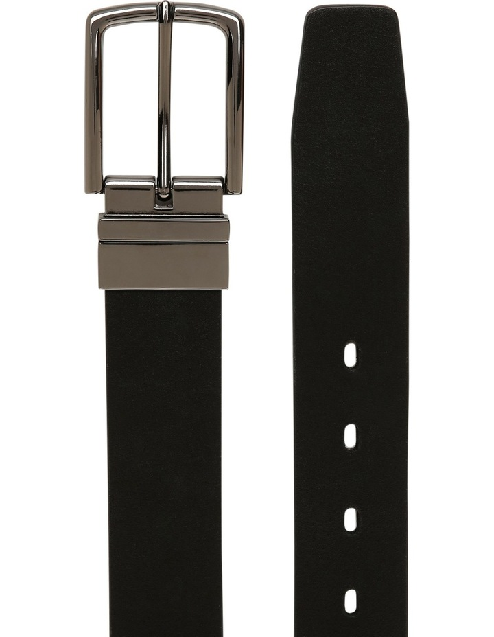 Black Skinny Reversible Belt image 2