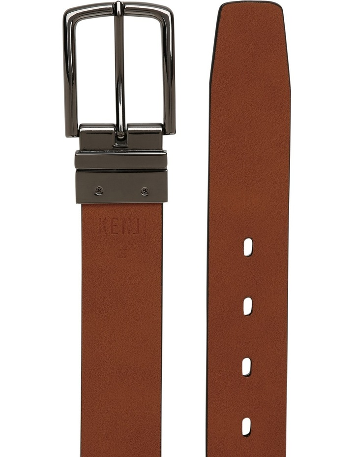 Black Skinny Reversible Belt image 3
