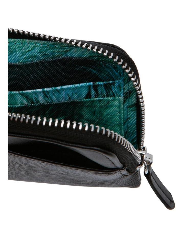 Black Zip Around Wallet image 3