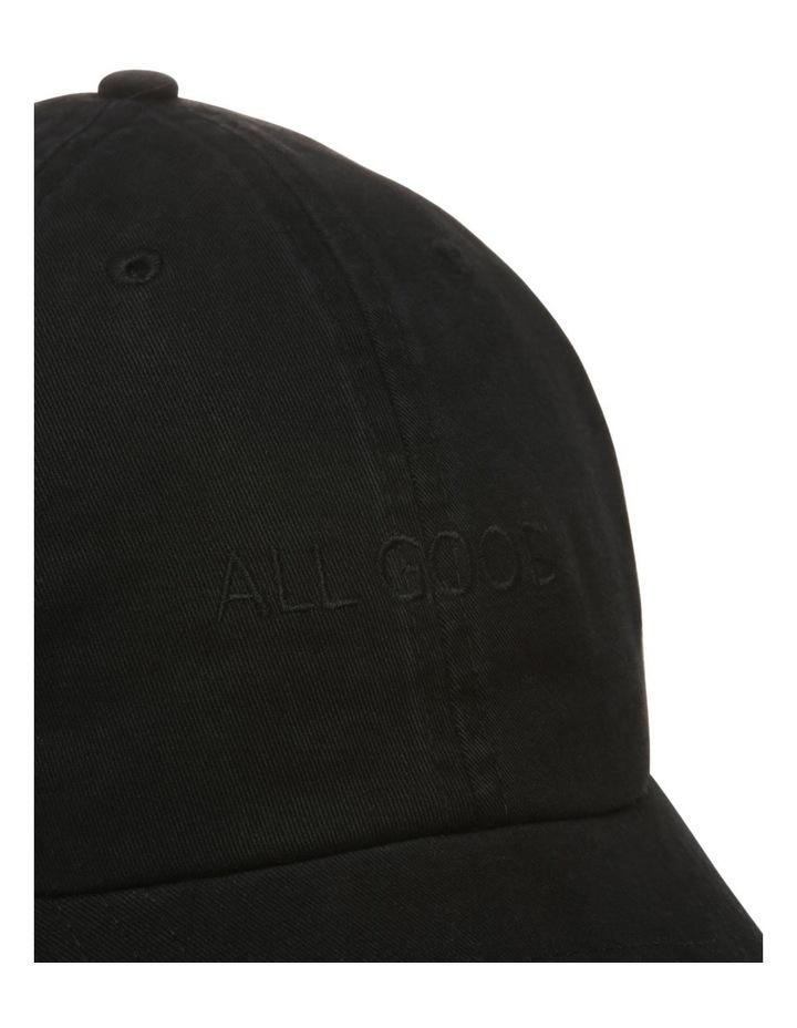 All Good Black Baseball Cap image 4