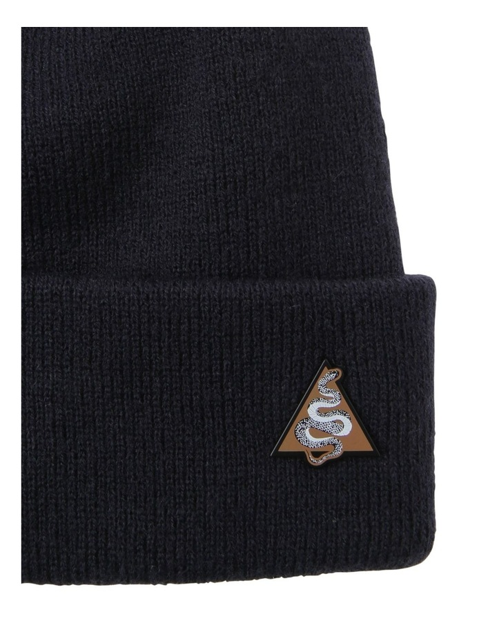 NAVY BEANIE AND SNAKE PIN SET image 2