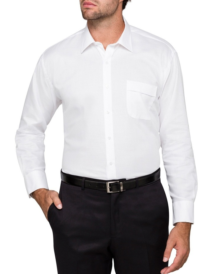 White Poplin Business Shirt image 2