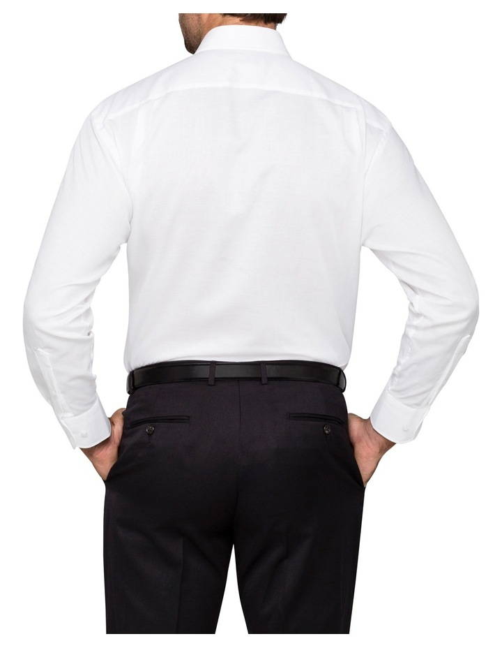 White Poplin Business Shirt image 3