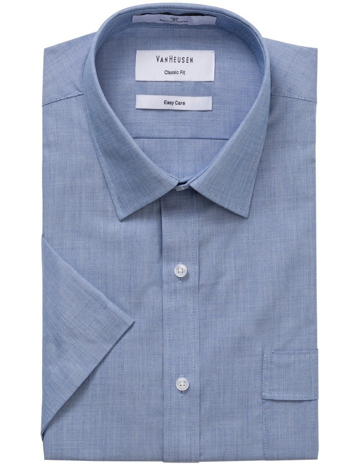 Blue Short Sleeve Business Shirt image 1